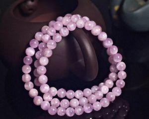 【送料無料】ブレスレット アクセサリ― ラウンドビーズブレスレット6mm genuine natural purple kunzite cat eye crystal round beads bracelet aaa