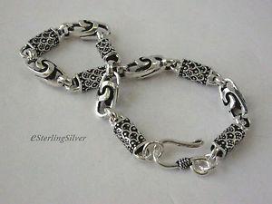 【送料無料】ブレスレット アクセサリ― 925 スターリングデザイナーブレスレット 8インチ159グラム65mm925 sterling silver designer bracelet 8 inches, 159 grams, 65mm width