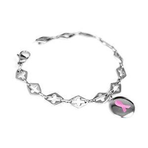 【送料無料】ブレスレット アクセサリ― カスタムピンクブレスレットスチールmyiddr custom engraved pink awareness bracelet 316l steel
