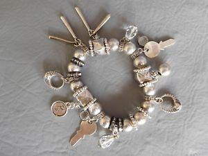 【送料無料】ブレスレット アクセサリ― ブレスレットパールリングラインストーンタッセルreminiscence bracelet pearl charm ring rhinestone tassel briolette cle charms