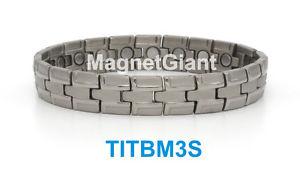 【送料無料】ブレスレット アクセサリ― ハイパワーメンズチタニウムブレスレットガウスhigh power mens magnetic titanium bracelet 5000 gauss magnets titbm3s