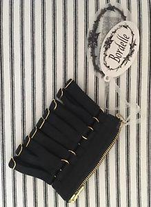 【送料無料】ブレスレット アクセサリ― ブラックアジャスタブルブレスレットカフ