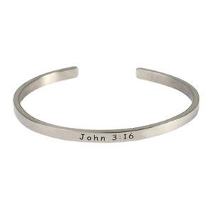【送料無料】ブレスレット アクセサリ― スターリングカフスブレスレットジョン316 womens bible verse sterling silver engraved cuff bracelet john 316
