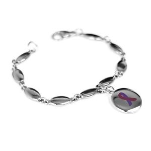 【送料無料】ブレスレット アクセサリ― カスタムブレスレットスチールmyiddr custom engraved purple awareness bracelet 316l steel