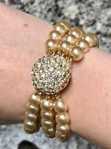 【送料無料】ブレスレット アクセサリ― パールクリスタルブレスレットsardi pearl crystal bracelet
