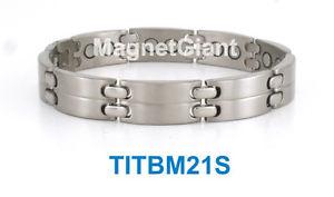 【送料無料】ブレスレット アクセサリ― クールメンズチタニウムブレスレットガウスcool high power mens magnetic titanium bracelet 5000 gauss magnets