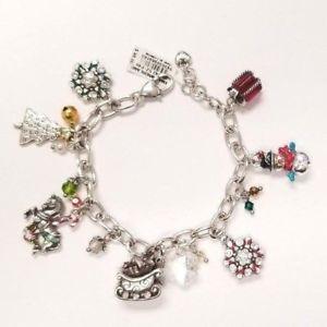 【送料無料】ブレスレット アクセサリ― ブライトンクリスマスブレスレットバトンドルbrighton winter wonderland christmas charm bracelet, nwt jb9342 98