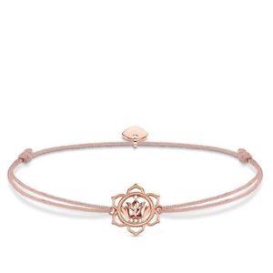 【送料無料】ブレスレット アクセサリ― トーマスローズゴールドブレスレットgenuine thomas sabo little secrets cz rose gold lotus flower bracelet ls016