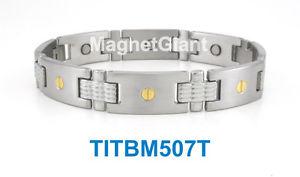 【送料無料】ブレスレット アクセサリ― ハイパワーメンズチタニウムブレスレットガウスネジデザインhigh power mens magnetic titanium bracelet 5000 gauss magnets screws design