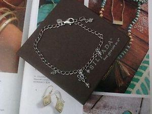 【送料無料】ブレスレット アクセサリ― クリスタルビーズスターリングシルバーブレスレットsilpada crystal bead and sterling silver ankle bracelet