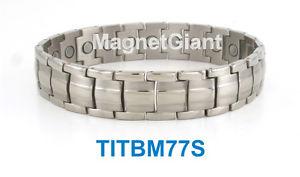 【送料無料】ブレスレット アクセサリ― クールメンズチタニウムブレスレットガウスcool high power mens magnetic titanium bracelet 5000 gauss magnets titbm77s