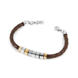 【送料無料】ブレスレット アクセサリ― ブレスレットコレクションレザーブラウンbrosway bracelet collection bullet leather brownbul14