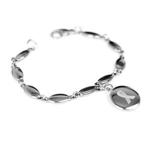 【送料無料】ブレスレット アクセサリ― カスタムティールブレスレットスチールmyiddr custom engraved teal awareness bracelet 316l steel