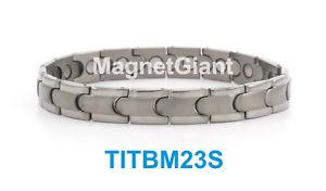 【送料無料】ブレスレット アクセサリ― ハイパワーメンズチタニウムブレスレットガウスhigh power mens magnetic titanium bracelet 5000 gauss magnets