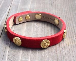 【送料無料】ブレスレット アクセサリ― カフラップゴールドブレスレットrustic cuff single wrap red meagen wgold bracelet