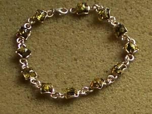 【送料無料】ブレスレット アクセサリ― 925balticamber bracelet womensilver 925 baltic green amber bracelet women