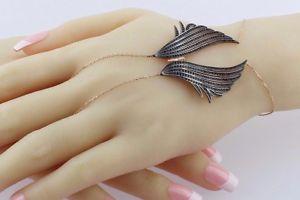 【送料無料】ブレスレット アクセサリ― スターリングシルバートルコハンドメイドファッションハーネスブレスレット925 sterling silver turkish handmade fashion wings hand harness bracelet