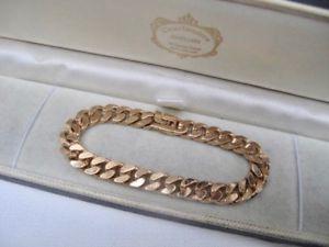 【送料無料】ブレスレット アクセサリ― レディースビンテージkゴールドメッキチェーンブレスレットスクラップグラムwomens vintage 18ct 18k gold plated 750 curb chain bracelet not scrap 214 grams