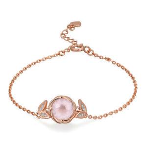 【送料無料】ブレスレット アクセサリ― スターリングシルバーローズゴールドブレスレット925 sterling silver 18ct rose gold plated blooming flower bracelet