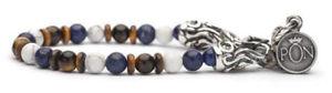 【送料無料】ブレスレット アクセサリ― ホワイトタイガーアイブラportonovo braceletlapis white tigers eye bra041505