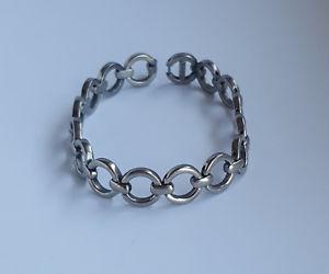 【送料無料】ブレスレット アクセサリ― フランスチタンリンクブレスレットretired french boccia titanium circle shaped links bracelet