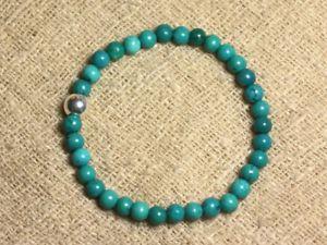 【送料無料】ブレスレット アクセサリ― シルバーブレスレットターコイズ925 silver bracelet and semi precious stonenatural turquoise 6mm