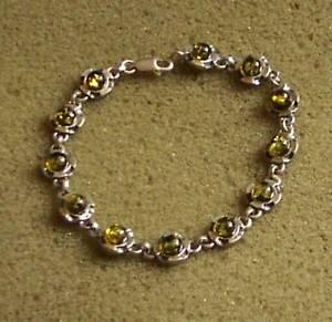 【送料無料】ブレスレット アクセサリ― シルバーバルトグリーンアンバーブレスレットsilver 925 baltic green amber bracelet women