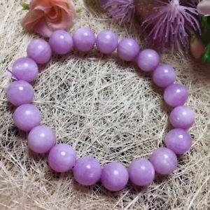 【送料無料】ブレスレット アクセサリ― クリスタルストレッチラウンドビーズブレスレット10mm natural purple kunzite cat eye crystal stretch round beads bracelet