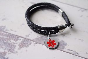 【送料無料】ブレスレット アクセサリ― ブレスレットブレスレットサービスmedical alert sos bracelet medical emergency bracelet free engraving