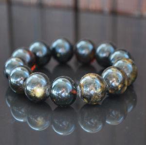 【送料無料】ブレスレット アクセサリ― バルトビーズブレスレットダークbaltic amber beads bracelet 36 gr dark genuine