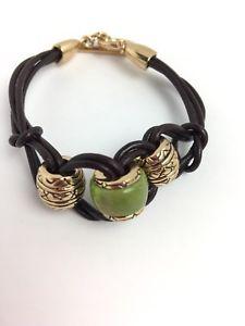 【送料無料】ブレスレット アクセサリ― スタジオブロンズブレスレットhsn studio barse gemstone bronze leather toggle bracelet