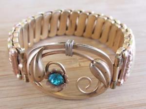 【送料無料】ブレスレット アクセサリ― ローズゴールドアクセントストレッチブレスレットyellow amp; rose gold filled stretch bracelet with teal stone accent ~ 3e6050