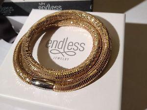 【送料無料】ブレスレット アクセサリ― エンドレスロペスゴールデンブレスレットシルバークラスプendless jlopez 40cm golden reptile bracelet double strand silver clasp rrp 65