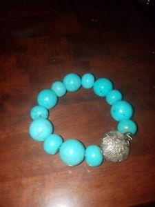 【送料無料】ブレスレット アクセサリ― ターコイズストレッチブレスレットpeyote bird sterling turquoise stretch bracelet