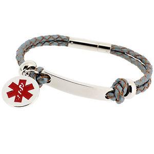 【送料無料】ブレスレット アクセサリ― ファッションライフアラートブレスレットwomens fashion life saving engraved medical sos id alert leather bracelet