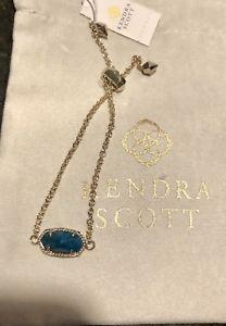 【送料無料】ブレスレット アクセサリ― スコットチェーンブレスレットアクアアパタイトnwt kendra scott elaina adjustable chain bracelet brass amp; blue aqua apatite