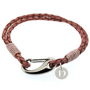 【送料無料】ブレスレット アクセサリ― deローザpulsera de cuero personalizadoun plata 925inicialde chica rosa pulsera de cuero personalizado con un plata 925 inicia