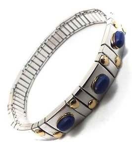 【送料無料】ブレスレット アクセサリ― ブレスレットラピスラズリelastic bracelet women gold steel 18ct precious stone lapis lazuli jewelry