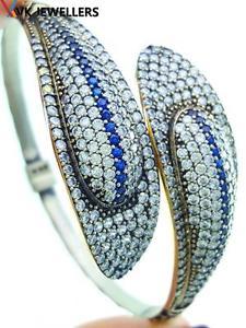 【送料無料】ブレスレット アクセサリ― トルコオスマンハンドメイドジュエリースターリングシルバーサファイアカフブレスレットturkish ottoman handmade jewelry 925 sterling silver sapphire cuff bracelet 2134