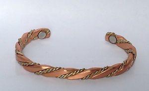 【送料無料】ブレスレット アクセサリ― セルジオブラシデザイン#カフブレスレットsergio lub caduceus magnetic brushed design 525 copper cuff bracelet