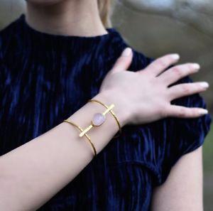 【送料無料】ブレスレット アクセサリ― オスマンカフブレスレットピンクaylas semi precious gem stone ottoman gold plated cuff bracelet pink chalcedony