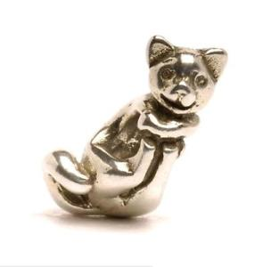 【送料無料】ブレスレット アクセサリ― オリジナルビーズシルバーtrollbeads original beads silver cat great tagbe 30086