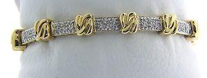 【送料無料】ブレスレット アクセサリ― 274 grams yw gold plated sterling712cubic zirconia bracelet j71274 grams yw gold plated sterling silver 7 12 cubic zirconi