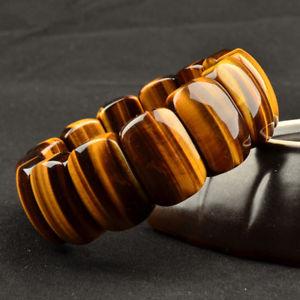 【送料無料】ブレスレット アクセサリ― トラビーズブレスレット listinggenuine natural yellow tigers eye gemstone rectangle beads bracelet aaaa 25mm