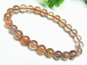 【送料無料】ブレスレット アクセサリ― 8mmレッドルチルブレスレットgift bl31608mm natural golden red rutilated quartz round beads stretch bracelet gift bl3160
