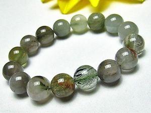 【送料無料】ブレスレット アクセサリ― 12mmルチルブレスレットgift bl166112mm natural green stripe rutilated quartz crystal round bracelet gift bl1661