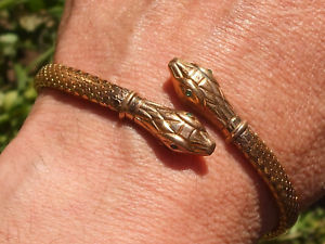 【送料無料】ブレスレット アクセサリ― ヘビ195060beautiful bracelet old serpent years 195060 goldplatedbig enough