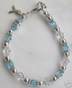 【送料無料】ブレスレット アクセサリ― シルバースワロフスキーブレスレットsilver amp; swarovski prostate cancer awareness bracelet