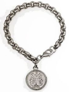 【送料無料】ブレスレット アクセサリ― エトルリアヤヌスブレスレットピューターアンプetruscan two sided 1 charm janus bracelet 75 silver plated pewter amp; brass