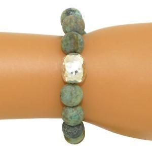 【送料無料】ブレスレット アクセサリ― スターリング925cサイモンsebbagマットアフリカトルコブレスレットsimon sebbag stretch matte african turquoise bracelet with sterling silver 925 c
